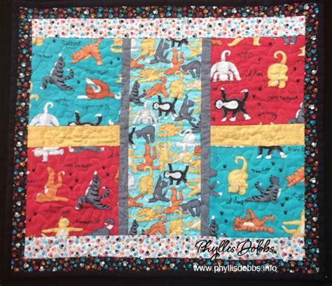 yoga pattern material cat fabric phyllis dobbs blog