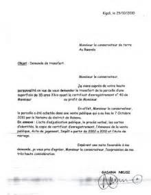 Certification Letter For Ownership land title transfer application letter