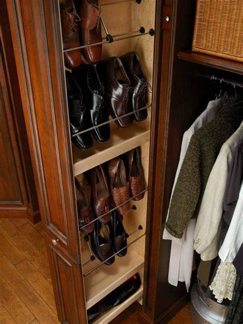 pull out shoe storage hunt club valet traditional closet houston by