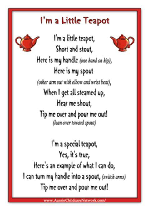 printable lyrics for nursery rhymes im a little teapot rhymes worksheet nursery rhymes