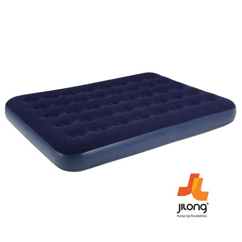 double bed mattress jilong single double inflatable flocked air bed camping