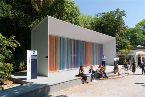 giardini venice biennale giardini colourfall by ian davenport swatch pavilion at