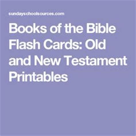 printable flash cards books of the bible curriculum theme ideas and super bowl on pinterest