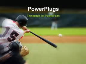 Baseball Themed Powerpoint Template by Baseball Hit Powerpoint Template Background Of