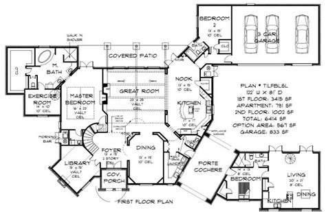 5000 sq ft floor plans plan tilfblsl 5000 and above sq ft plans oklahoma