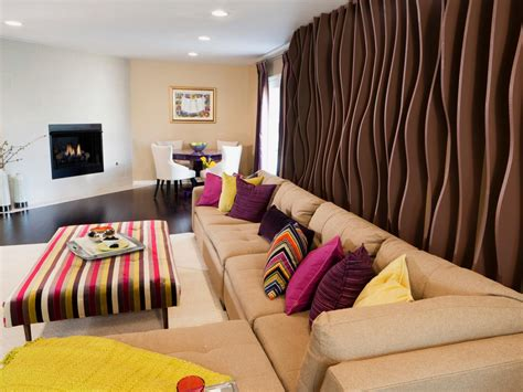 wall treatments for living rooms photos hgtv