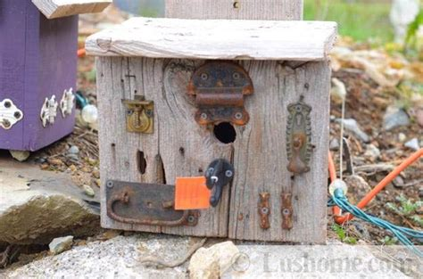 rustic craft projects recycling ideas for rustic birdhouses from salvaged