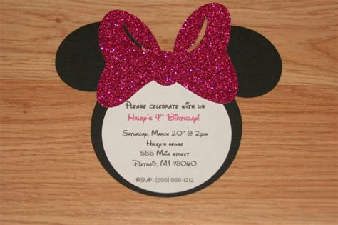 Minnie Mouse Handmade Invitations - handmade minnie mouse invitations with by angiesdesignz on