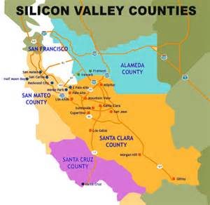map of silicon valley california map california cities silicon valley