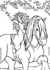 coloring books merida horse angus print free download