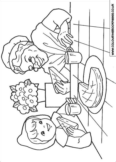 Little Red Riding Hood Colouring Pages | 9 Character