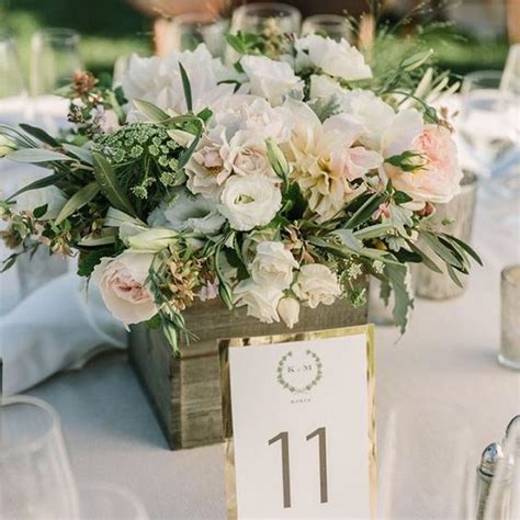Wedding Box Centerpieces by Blush Pink Weddings Wood Box Centerpiece And Flower On