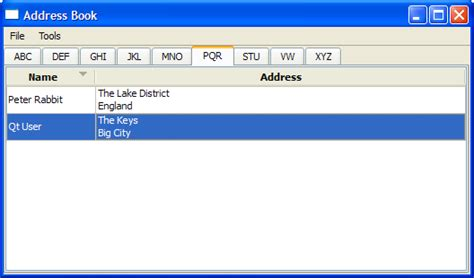 qt reference book address book exle qt 4 8