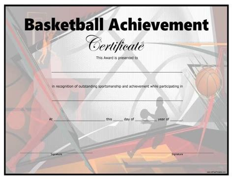 templates for basketball certificates free printable basketball certificate all free printable