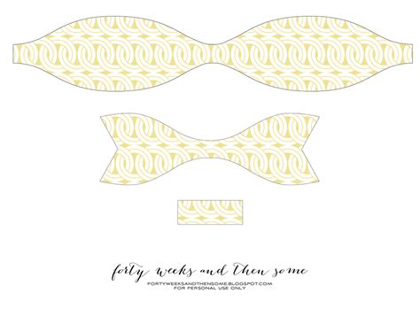 paper ribbon template forty weeks crafts diy paper bows