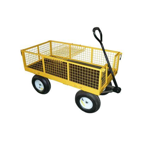 shop garden plus 6 cu ft steel yard cart at lowes