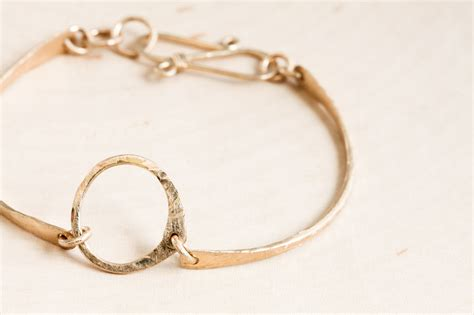 simple zen circle handmade small circle bracelet