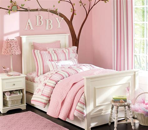 childrens pink bedroom ideas pink kids bedroom ideas with tree wall decals