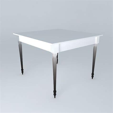 square white dining table louis 3d model max obj 3ds fbx