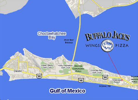 florida emerald coast map buffalo s legendary wings map