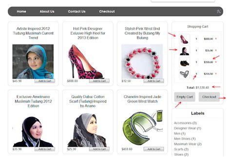tutorial kedai online kedai on line shopping cart my dengan checkout laman