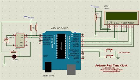 code arduino clock electronics note arduino real time clock using ds1307