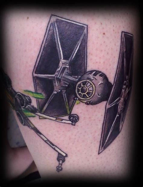 tie fighter tattoo tie fighter and x wing dogfight tattoos