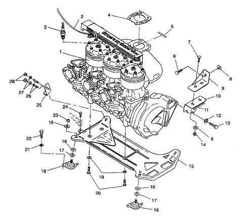 polaris jet ski parts diagram 95 polaris 750 jet ski engine parts 95 free engine image