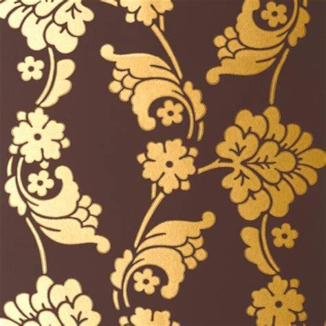 gold velvet wallpaper uk velvet jacquard gold and chocolate brown at10095 wp034
