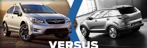 Subaru Xv Vs Kia Sportage 2015 Subaru Xv Crosstrek Vs 2015 Kia Sportage Model
