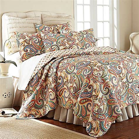 paisley quilt bedding levtex home alyssa paisley reversible quilt set bed bath