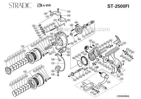 shimano stradic parts diagram shimano st 2500fi parts list and diagram
