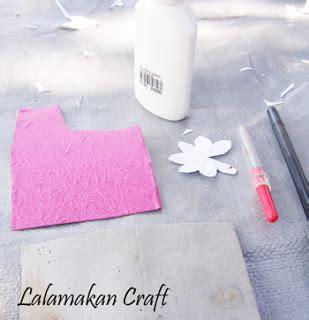 Lem Kaca Dan Alatnya membuat bunga dari kertas karton bekas bli blogen
