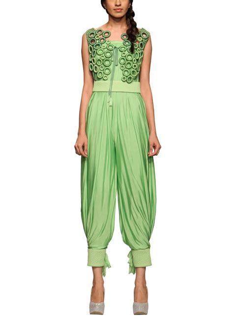 green pattern jumpsuit rinku sobti eclectic green jumpsuit shop jumpsuits at