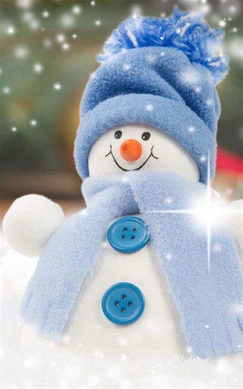 cute christmas snowman  pure  ultra hd mobile wallpaper