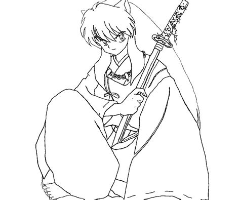 Inuyasha Color Pages Az Coloring Pages