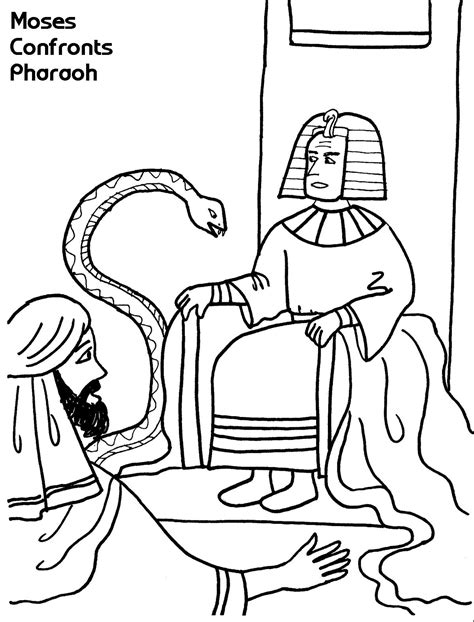 Pharaoh And Moses Coloring Pages by Moses Confronts Pharaoh Coloring Sheet Wesleyan