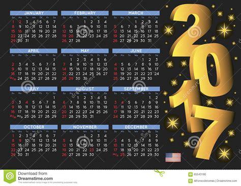 Calendario Con Fechas Festivas 2017 2017 D 237 As Festivos De Los E E U U Calendario Negro