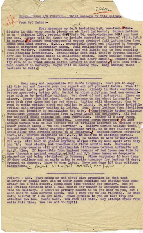 secret letter secret letter from colditz personal documents douglas