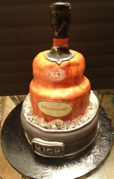 in hennessy bottle cake ideas and designs