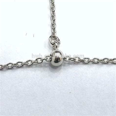 clasp for jewelry h2188 silver jewelry adjustable clasp with silicon slide