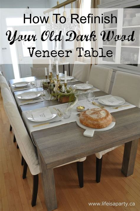how to re varnish wood cabinets how to refinish your old dark wood veneer table how to