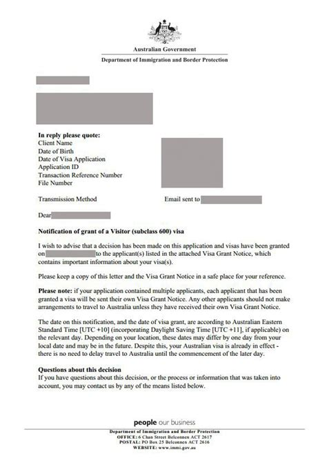 Visa Grant Letter Received How To Apply For Australian Visitor Visa For Filipinos Jaswandering