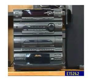 sony 200 watt shelf system with 5 disc cd player e15262