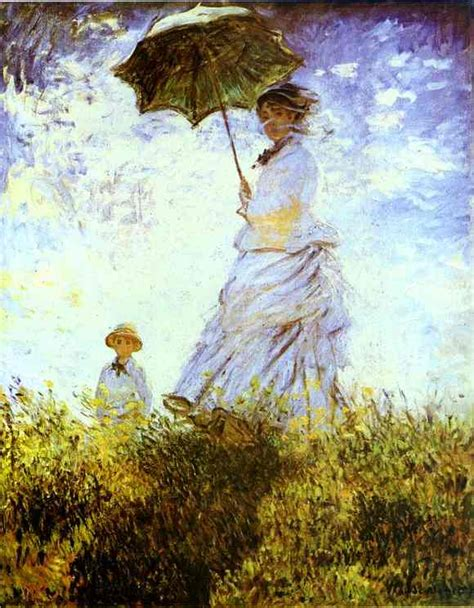 L Painting by The Walk With A Parasol By Claude Monet 1840