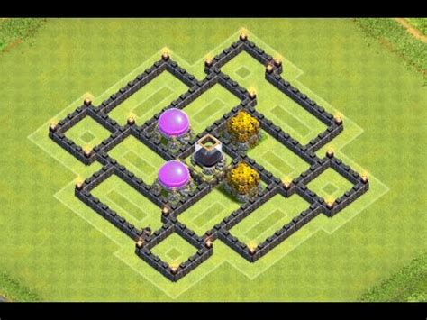coc layout th7 with air sweeper clash of clans new th7 dark elixir farming base with air