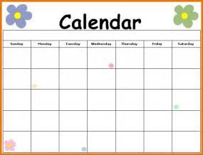 Free Printable Blank Calendar Template by Free Blank Printable Calendar Single Flower Calendar