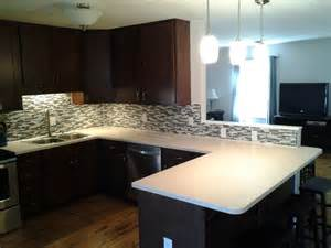 Solid Surface Kitchen Countertops Solid Surface Living Tile Ready Splash Modern Kitchen Countertops Other Metro