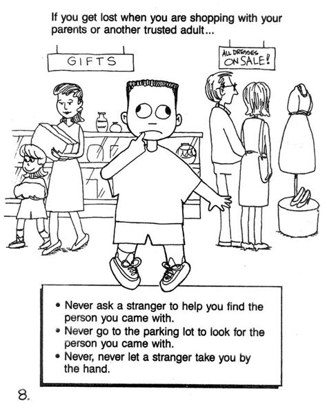 learning colors free printable uh oh if you are lost in a mall safety coloring sheet