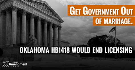 Oklahoma Marriage License Records Tenth Amendment Center Oklahoma Bill Would Eliminate Marriage Licenses Nullify